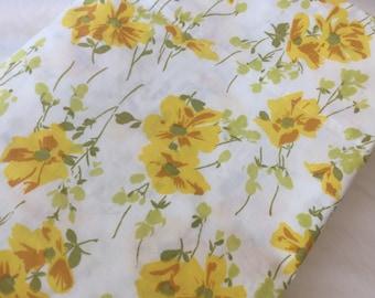 Vintage Twin Flat Bedsheet-Yellow Floral- Single Bedsheet