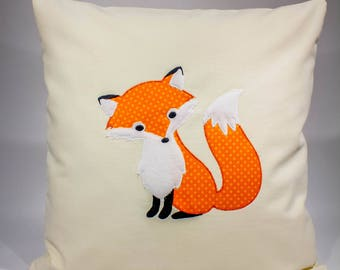 Fox Baby Pillows, Woodland Nursery Decor, Woodland Creature, Woodland Animal Rustic Nursery Bedding, Orange Woodland Fox Nursery decor