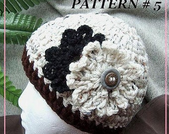 crochet Pattern  num 5, OATMEAL BEANIE For women... Crochet for beginners..INSTANT download