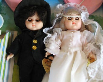 1980s Doll Ginny Bride and Groom Vogue Doll MIB 1985