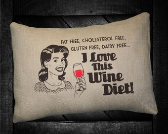 "Wine Diet  12""x16"" Pillow Set"