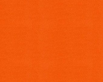Solid Orange Minky Fabric - By The Yard - Boy / Girl / Gender Neutral