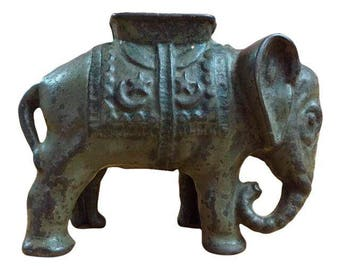 Cast Iron Elephant Bank