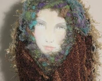 Lady of the Forest spirit doll wall hanging OOAK