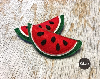 Watermelon Felt Cat Toy with organic catnip - watermelon for cats