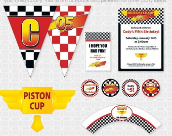 Racing Party Theme - Personalized Printable