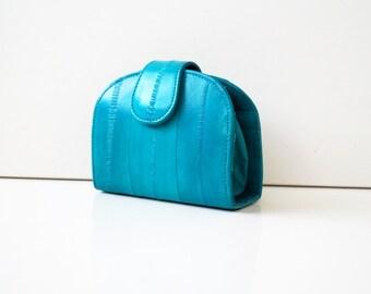 "Women's wallet, womens purse, leather wallet ""June"" in turquoise, genuine leather, wallet, purse, portemonnaie, handmade."