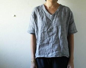 LINEN BLOUSE / womens blouse / linen tee / linen t shirt / summer / spring / made in australia / pamelatang