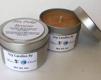 Hot Fudge Brownie 4oz Soy Wax Candle
