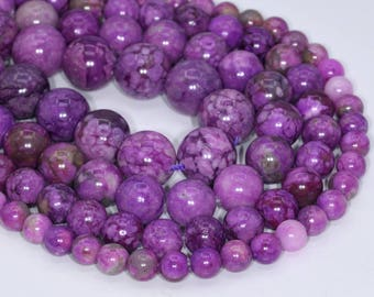 Natural Purple Sugilite Loose Beads Round Shape 6mm 8mm 10mm 12mm