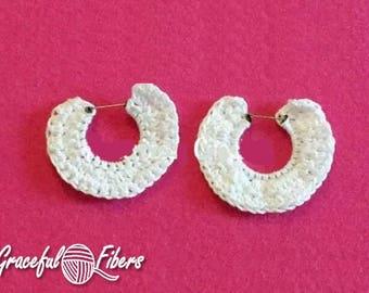 Snow Circle Earrings Crochet Pattern