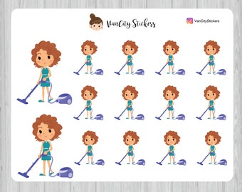 Vacuum Stickers, Cleaning Stickers, Stacy Stickers