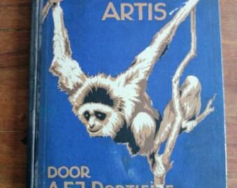 Antique Verkade album Artis Zoo animals