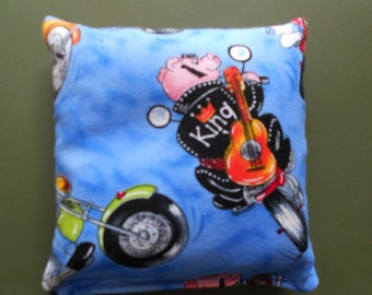 Pig on Motorcycle Corn hole Bags