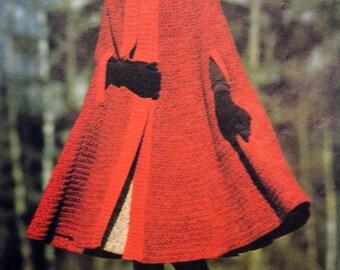 Tutoriel cape rouge pour dame (Vintage)