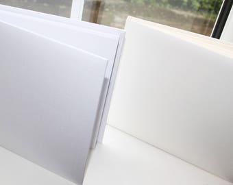 Plain, Blank, DIY, Un-Personalised Guest Book in White or Ivory, Birthday, Anniversary, Wedding, Christening - Charlotte Elisabeth GB000