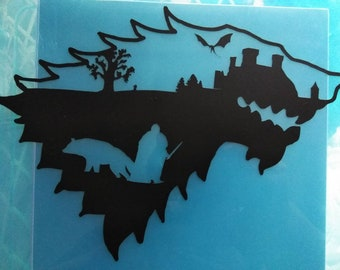 Jon Snow Winterfell Direwolf sticker