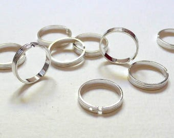 Set of 4 silver without Board Adjustable ring holders