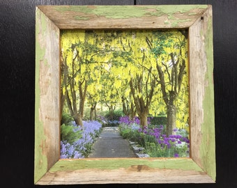 """12x12"""" Old Green Painted Barnwood Frame"""