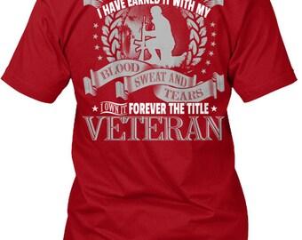 Veteran  Forever The Title Hanes Tagless Tee Tshirt