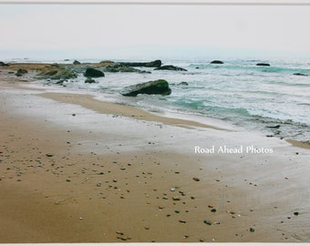 5 x 7 matted photo, Crystal Cove State Park, beach photography