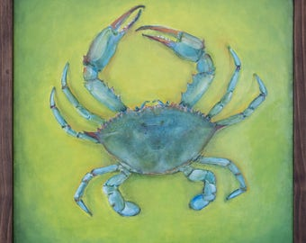 Blue Crab - Original Oil Painting