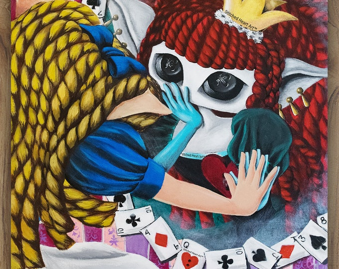 """Becoming Truly Self-Aware  - 11x14"""" Repro Print - Inspired by Alice in Wonderland - MuseArt"""