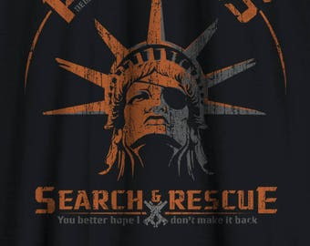 Escape from New York shirt - Snake Plisskens Search and Rescue Snake shirt