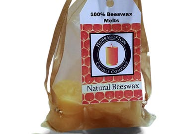 100 Percent Pure Beeswax Melts, Natural Honey Scented Round Melts, 100% Pure Natural Beeswax, Beeswax Tart, Flameless Candle