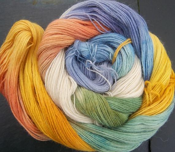 Baby Alpaca 4ply sock  Yarn Imbolc Spring Dreams Elvincraft Hand Painted
