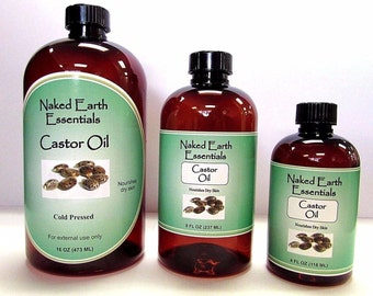 100% Castor Oil Cold Pressed Therapeutic Naked Earth Essentials