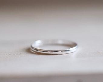 Silver Band. Sterling silver thin band ring. Silver ring, Stacking ring, band ring, Engagement ring, Wedding ring, Wedding band, Mini.