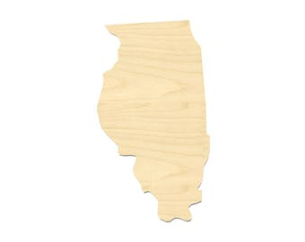 Illinois State Shape- Laser Cut Illinois State Shape