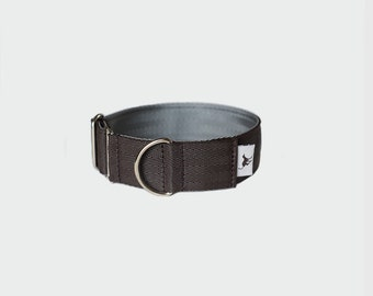 Italia Dog and Sighthound Collar in Chocolate/Silver