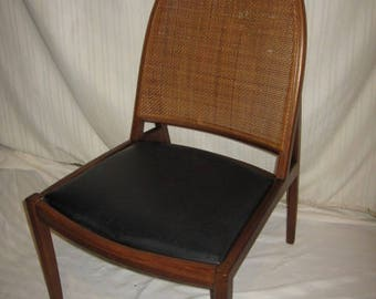 Rare Danish Mid Century Modern Hoop Cane Back Lounge Chair