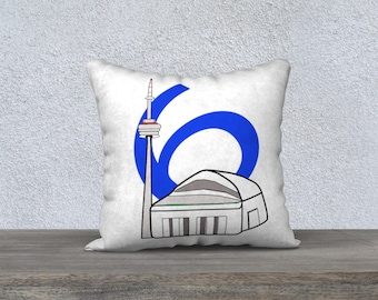 In the 6 six CN Tower Skydome Roger Centre pillow case, home, decor, custom fabric and colour