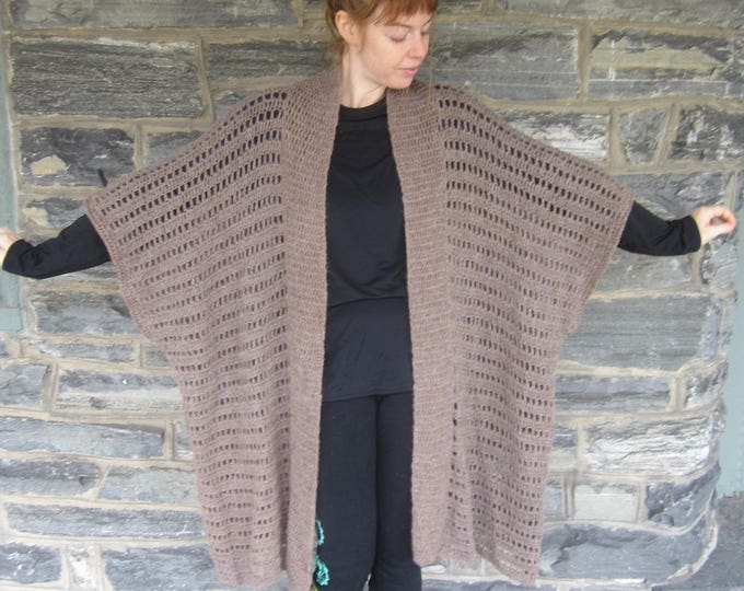 ALPACA CARDIGAN/ Ready to ship/ Plus size  Poncho/plus size Cardigan/ Oversize Cardigan/cardigan/poncho/ Winter fashion