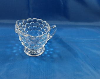 Bubble Bullseye Anchor Hocking Glass Creamer ONE