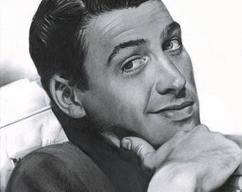 Drawing Print of Jimmy Stewart