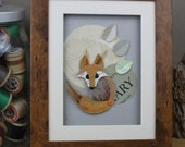 Fox Framed Art - Mixed Me...