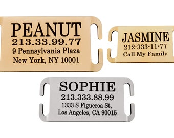 Personalized Slide On Dog Tag, Personalized Pet Tag, Slide On Collar Tag, Slide On Dog Tag, Collar Nameplate