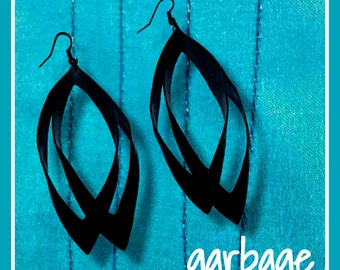 Obsidian Drop Vegan Earrings