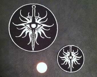 "Dragon Age Inquisition ""Inquisitor"" and Seekers of Truth Heraldry/Insignia Embroidered Patch"