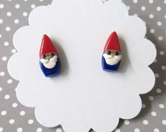 Gnome Earrings, Cute Earrings, Elf Earrings, Dainty Earrings, Gardener Gift, Unique, Hypoallergenic Posts, Sensitive Ears, Girls Earrings