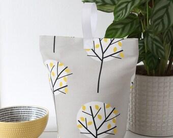 Grey Tree Fabric Doorstop Fabric Door Stop Doorstopper Scandi Home Scandinavian Fabric Patterned
