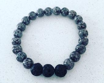 Mercury Lava Bead Bracelet