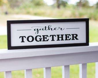 Gather Together Fixer Upper Fall Decor Sign