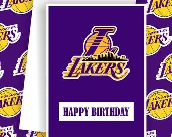 Lakers - Los Angeles Lakers Fan, Basketball Team Card,  Basketball Greeting Card