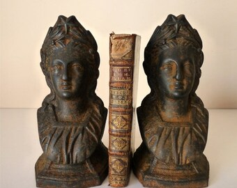 50% DISCOUNT 1850 Symbol France Antique French Bookends Marianne Star Andiron Bookends French Republic