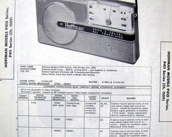 1957 Hoffman Transistor Radio Repair 50s Portable Photo